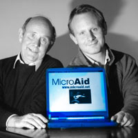 Richard and Toby Beresford, the father and son team behind MicroAid